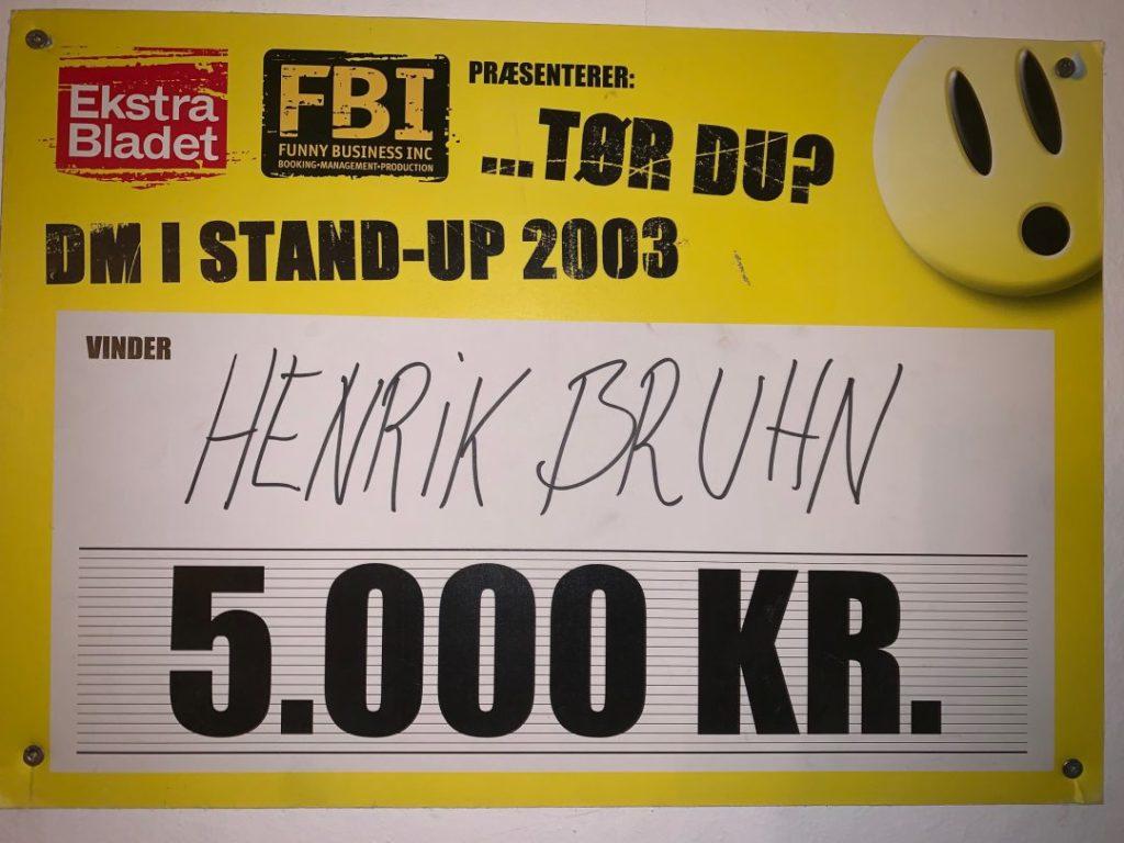 Henrik bruhn vinder af dm i stand-up